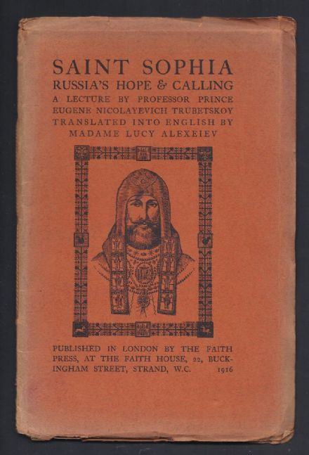 Rare Lecture Given by Prince Sergei Trubetskoy 1916 - St Sophia Russia's Hope